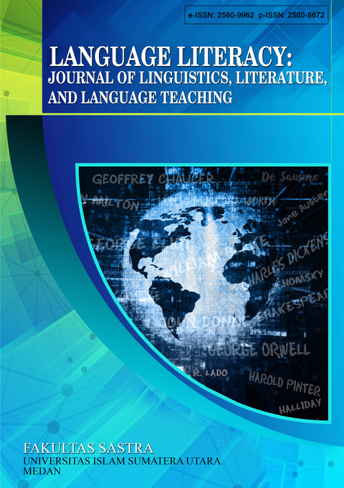Language Literacy: Journal of Linguistics, Literature, and Language Teaching